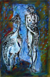 Sans Titre (2004) : technique mixte sur Papier   50 x 33 cm.