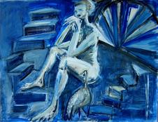 Sans Titre (2004) : Acrylique sur Papier   50 x 65 cm.