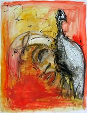 Sans Titre (2004) : Acrylique sur Papier   65 x 50 cm.