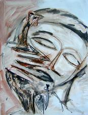 Sans Titre (2004) : technique mixte sur Papier   65 x 50 cm.