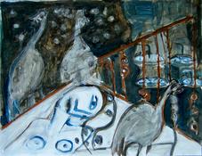 Croix du sud (2004) : Acrylique sur Papier   50 x 65 cm.