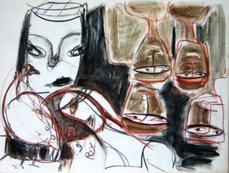 Sans Titre (2004) : technique mixte sur Papier   42 x 57 cm.