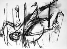 Sans Titre (2004) : Fusain sur Papier   42 x 57 cm.