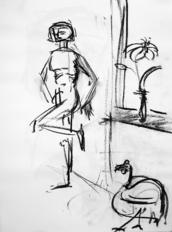 Sans Titre (2004) : Fusain sur Papier   41 x 30 cm.