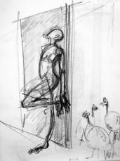 Sans Titre (2004) : Crayon sur Papier   41 x 30 cm.