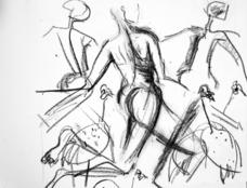 Sans Titre (2004) : Fusain sur Papier   30 x 41 cm.