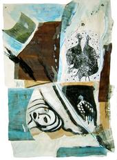 La vie de tous les jours (2005) : technique mixte sur Papier   130 x 90 cm.