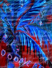 Oodbye Afr (2005) : technique mixte sur Toile   120 x 93 cm.