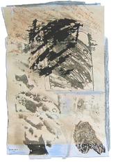 Lettre à une ancienne amie: Si tu as raison (a) (2005) : technique mixte sur Papier   50 x 33 cm.