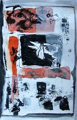 Lettre à une ancienne amie: Si tu as raison (b) (2005) : technique mixte sur Papier   50 x 33 cm.