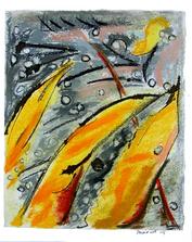 Herbe à pintade (2005) : Craie sèche sur Papier de riz   36 x 25 cm.