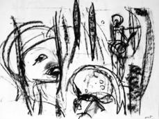 Sans Titre (2005) : Fusain sur Papier   42 x 57 cm.