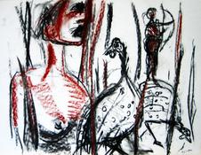 Sans Titre (2005) : technique mixte sur Papier   42 x 57 cm.