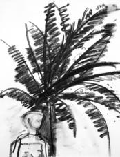 Good bye Africa (2005) : Fusain sur Papier   30 x 30 cm.