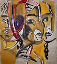 Sans Titre (2006) : Huile sur Toile libre   85 x 70 cm.