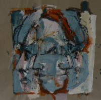 Sans Titre (2013) : technique mixte sur Papier craft   98 x 100 cm.