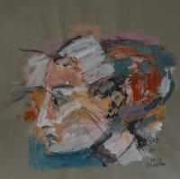 Pas De Rose (2013) : technique mixte sur Papier craft   98 x 100 cm.