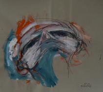 Sans Titre (2013) : technique mixte sur Papier   86 x 100 cm.