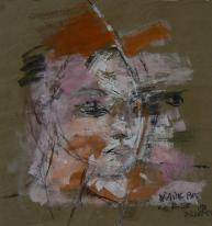 Sans Titre (2013) : technique mixte sur Papier craft   74 x 70 cm.