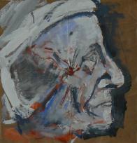 Dorothea (2013) : Acrylique sur Papier craft   49 x 47 cm.