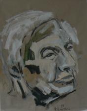Dorothea (2013) : technique mixte sur Papier craft   90 x 70 cm.