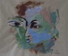 Petit Picasso (2013) : Acrylique sur Papier craft   70 x 88 cm.