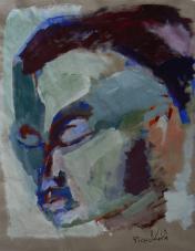 Sans Titre (2013) : Acrylique sur Papier craft   90 x 70 cm.