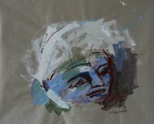 Sans Titre (2013) : Acrylique sur Papier craft   70 x 88 cm.