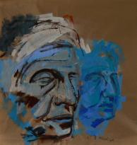 Dorothea (2013) : Acrylique sur Papier craft   105 x 100 cm.