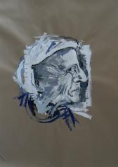 Dorothea (2013) : Acrylique sur Papier craft   136 x 100 cm.
