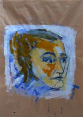 Sans Titre (2013) : Acrylique sur Papier craft   142 x 100 cm.