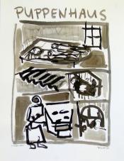 Puppenhaus (2010) : Encre sur Papier   65 x 50 cm.