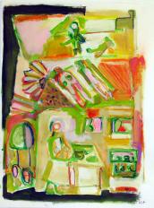 Et Même Grand Père (2010) : technique mixte sur Papier   65 x 50 cm.