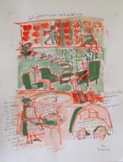 Les Enfants sont dans le Décor (2010) : technique mixte sur Papier   65 x 50 cm.