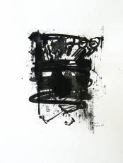 Quand le Vieux Grillon Chante 1 (2014) : Encre sur Papier   65 x 50 cm.