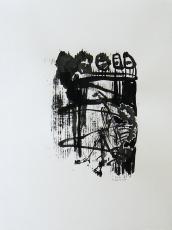 Quand le Vieux Grillon Chante 2 (2014) : Encre sur Papier   65 x 50 cm.