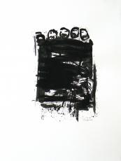 Quand le Vieux Grillon Chante 3 (2014) : Encre sur Papier   65 x 50 cm.