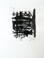 Quand le Vieux Grillon Chante 4 (2014) : Encre sur Papier   65 x 50 cm.