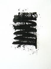 Quand le Vieux Grillon Chante 5 (2014) : Encre sur Papier   65 x 50 cm.