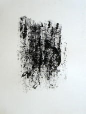 Quand le Vieux Grillon Chante 6 (2014) : Encre sur Papier   65 x 50 cm.