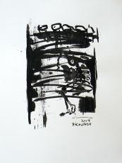 Quand le Vieux Grillon Chante 7 (2014) : Encre sur Papier   65 x 50 cm.
