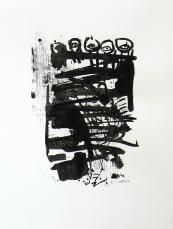 Quand le Vieux Grillon Chante 8 (2014) : Encre sur Papier   65 x 50 cm.