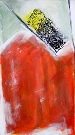 Sans Titre (2005) : technique mixte sur Toile   80 x 45 cm.