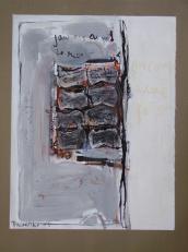 J'aurais aimé -te revouir (2008) : technique mixte sur Papier   32 x 25 cm.