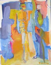La Rencontre  (2007) : Huile sur Toile   50 x 40 cm.
