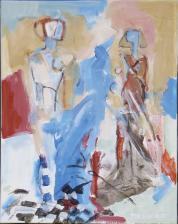 La Rencontre  (2007) : technique mixte sur Toile   50 x 40 cm.