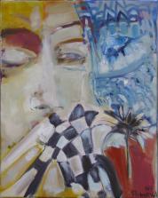 Chuchotements  (2007) : Acrylique sur Toile   50 x 40 cm.