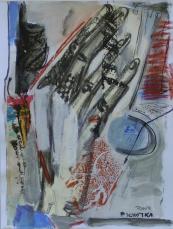 Jeu de Mains (2007) : technique mixte sur Papier   33 x 25 cm.