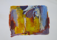 Rencontre 2 (2007) : technique mixte sur Papier   42 x 60 cm.