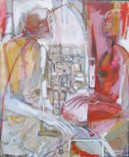 Entretien (2007) : Acrylique sur Toile   115 x 95 cm.